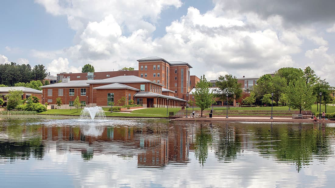 Gilliam Center by the lake