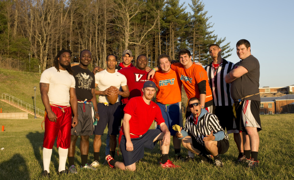Flag football intramural group photo