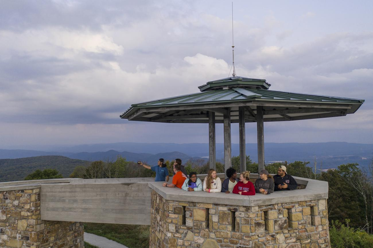 Students at High Knob Tower